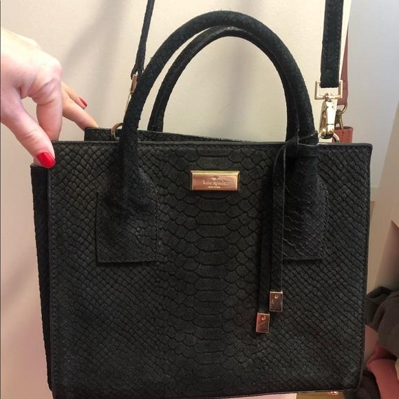 kate spade Handbags - Kate Spade Black Suede Purse